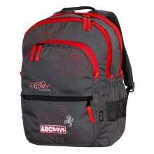 School backpack TASHEV ABC Boys - Gray / red